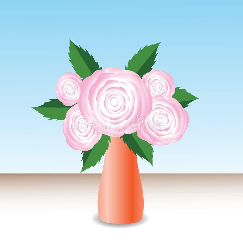 Rose rosa illustrazione di stock