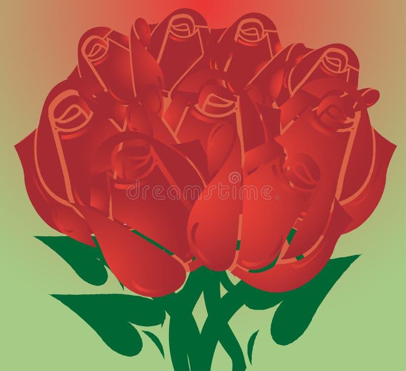 Rose rosse royalty illustrazione gratis