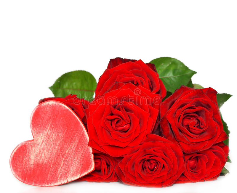 Rose rosse e cuore di legno immagine stock immagine di for Quadri con rose rosse