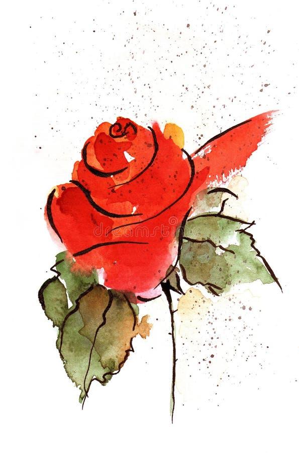 Rose rouge illustration de vecteur