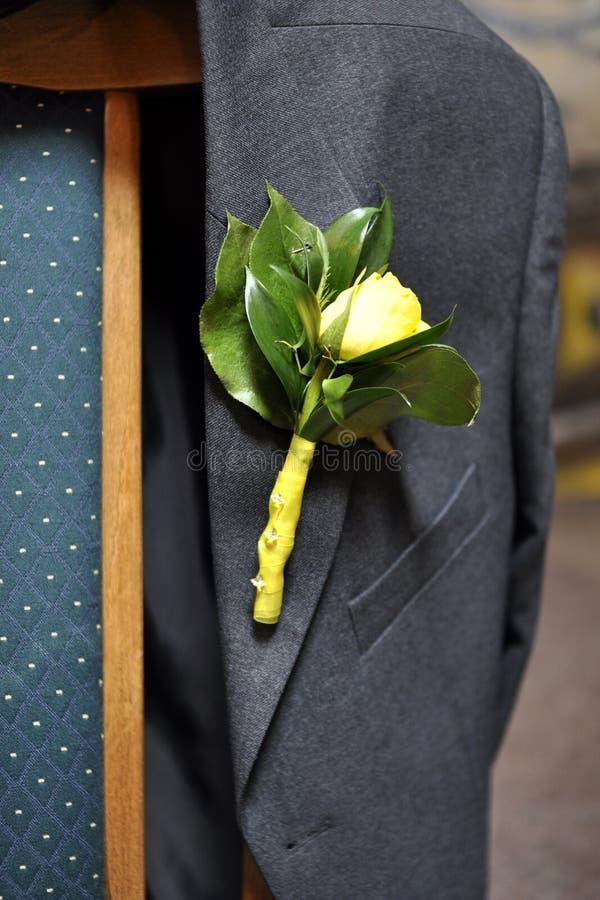 rose s dräkt för boutineerman arkivbilder