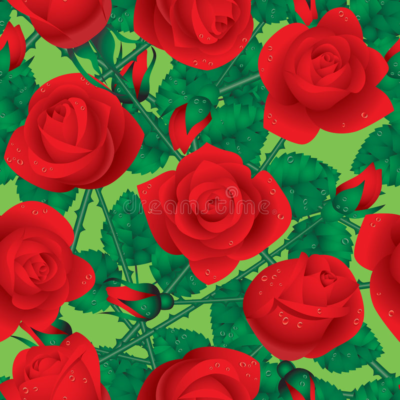 Rose seamless royalty free illustration
