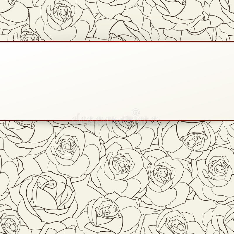 Download Rose seamless background. stock vector. Image of fabric - 32098463