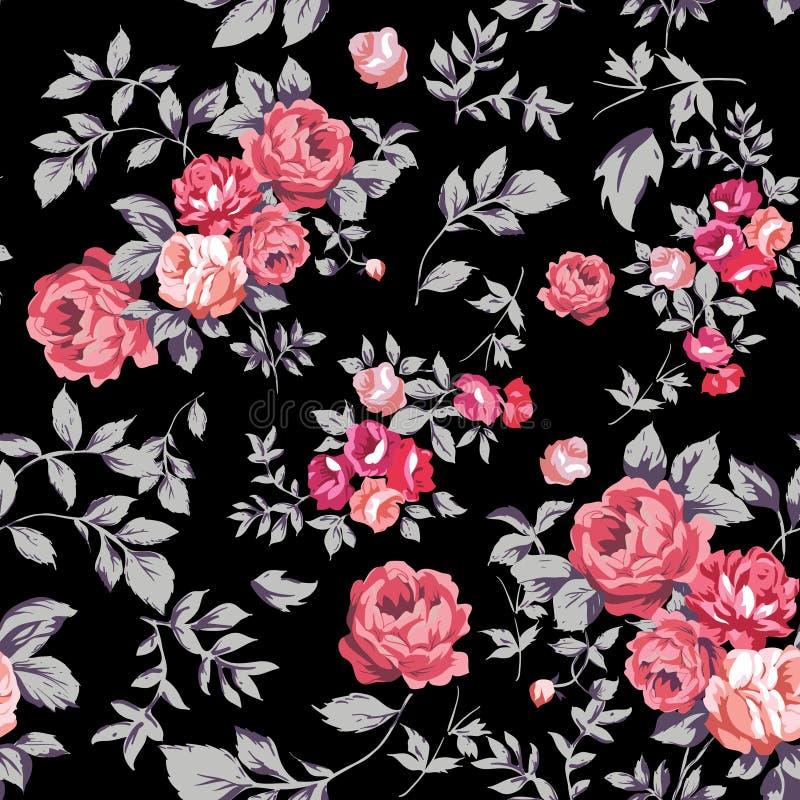 Rose Seamless Pattern illustration libre de droits