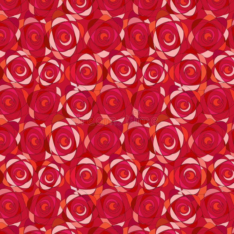Rose Seamless Wallpaper Pattern royalty free illustration