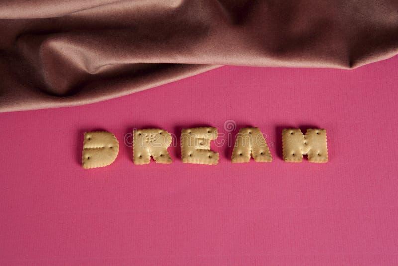 Rose sec de biscuit de mot rêveur image libre de droits