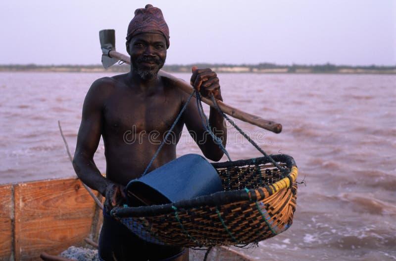 Rose See - Senegal stockbild