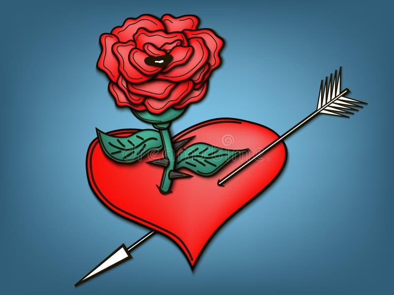 rose serca ilustracji