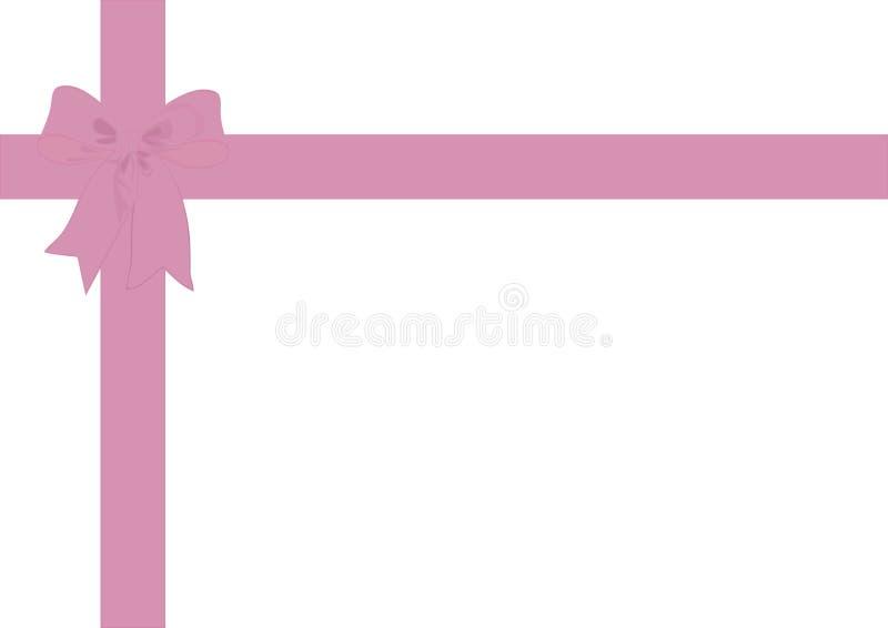 Rose sombre de ruban et d'arc de papier cadeau illustration stock
