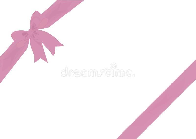 Rose sombre diagonal de papier cadeau et d'arc illustration de vecteur