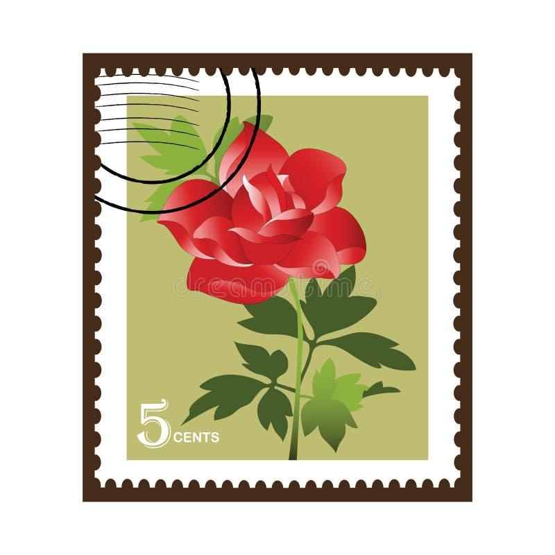 Rose stamp vector illustration