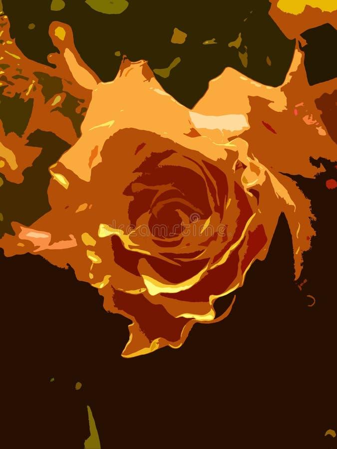 rose streszczenie royalty ilustracja
