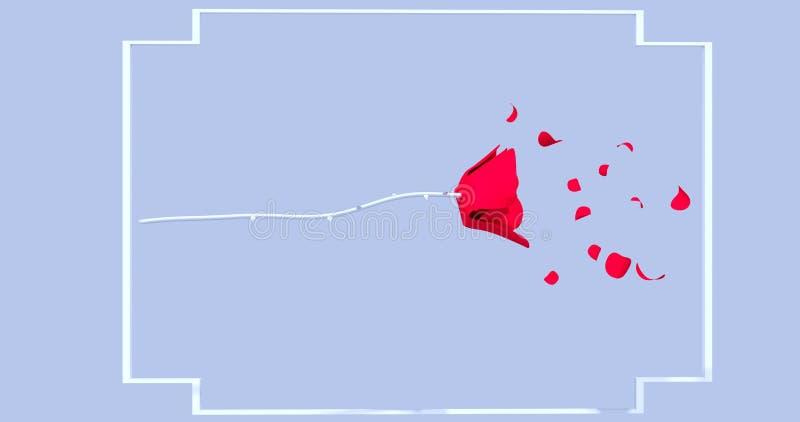 Rose sur un fond bleu photo libre de droits