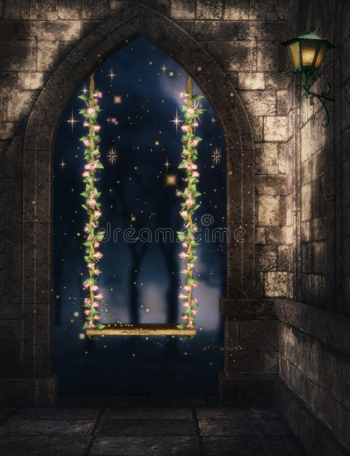 Rose swing fantasy background stock images