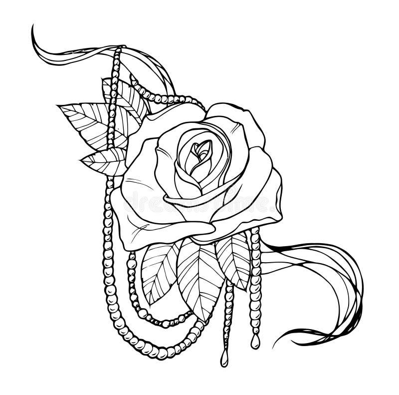Rose Tattoo Stock Vector Illustration Of Floral Shoulder