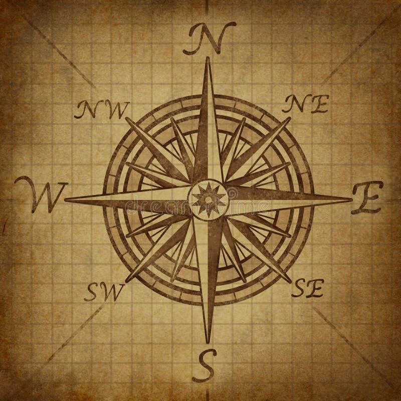 rose textur för kompassgrunge royaltyfri illustrationer
