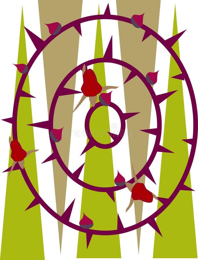 Rose Thorns royalty illustrazione gratis