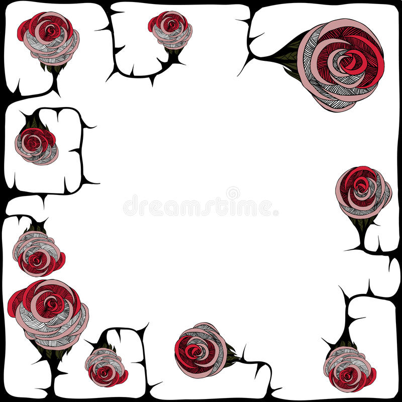 Download Rose with thorns stock vector. Illustration of gothic - 40961018