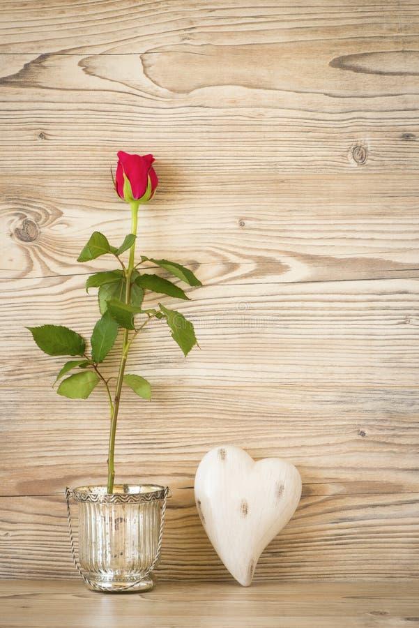 Rose und Inneres stockfoto