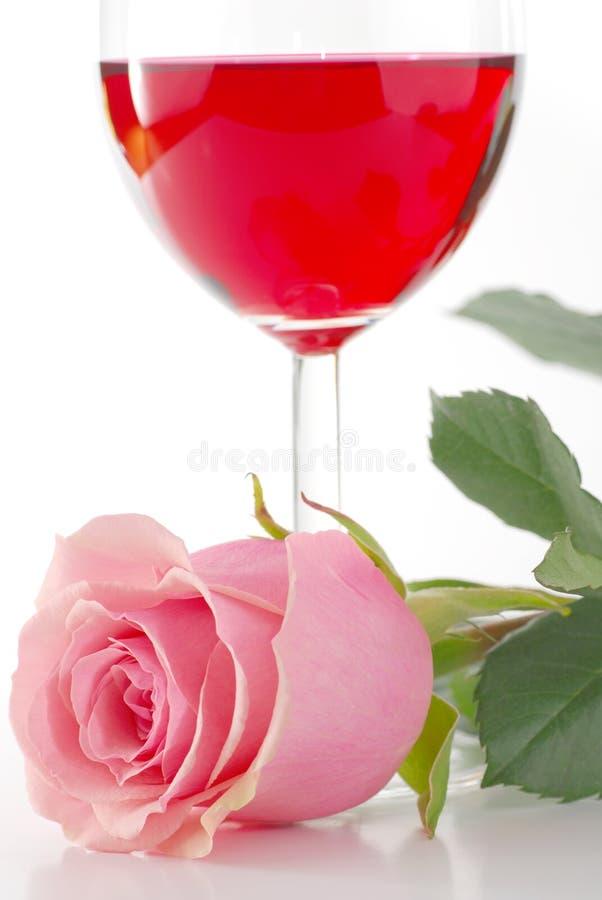 Rose und Wein stockfotografie