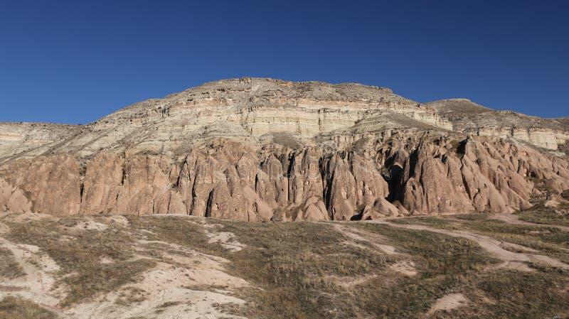Rose Valley in Cavusin-Dorp, Cappadocia, Nevsehir, Turkije royalty-vrije stock foto