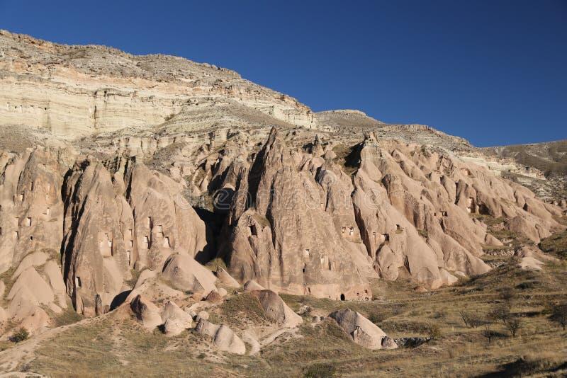 Rose Valley dans le village de Cavusin, Cappadocia, Nevsehir, Turquie photos libres de droits