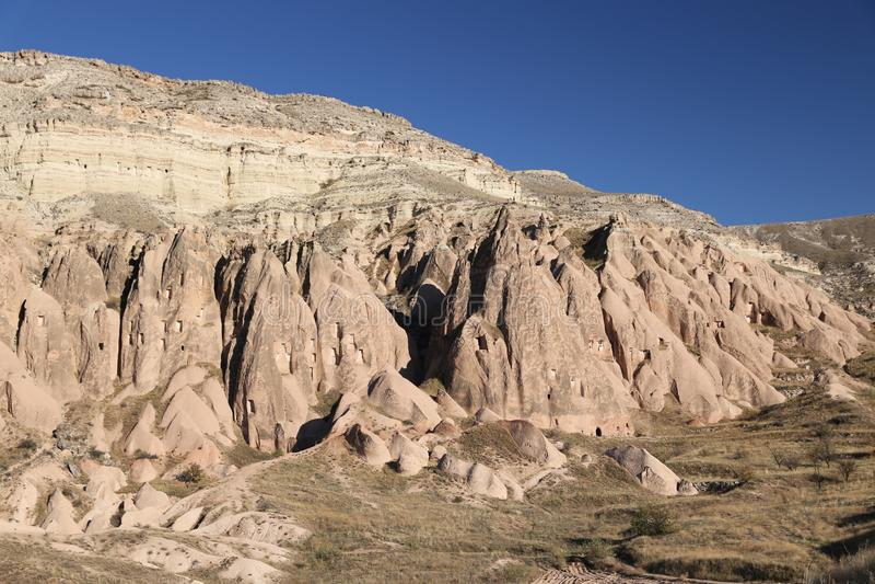 Rose Valley dans le village de Cavusin, Cappadocia, Nevsehir, Turquie photo stock