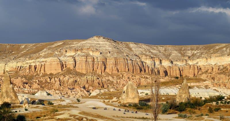 Rose Valley inusual en Cappadocia fotografía de archivo
