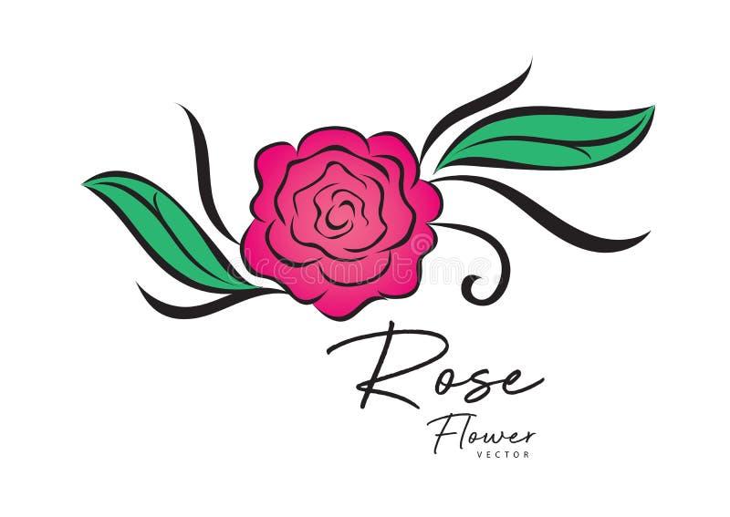 Rose Vector Illustration El panel solar y muestra para la energía alternativa estilo de la flor del vintage para la tarjeta de dí stock de ilustración