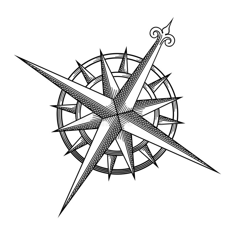 rose vektorwind royaltyfri illustrationer