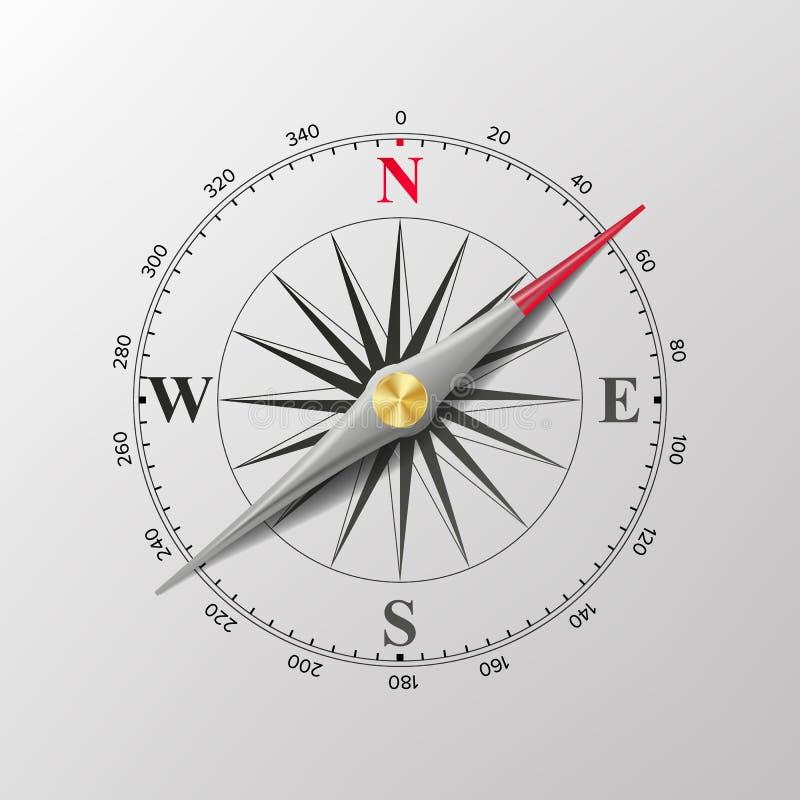 rose vektorwind för kompass illustration vektor illustrationer