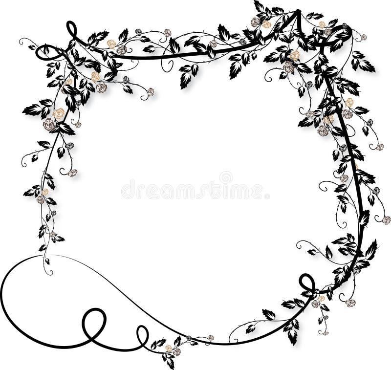 Download Rose Vines Frame-2 Royalty Free Stock Images - Image: 10763099