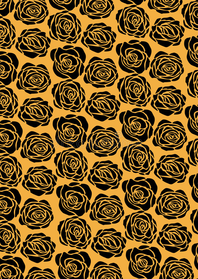 rose wallpaper för black royaltyfri illustrationer