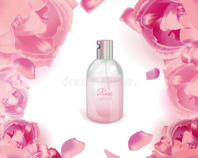 Rose Water Image vector illustration