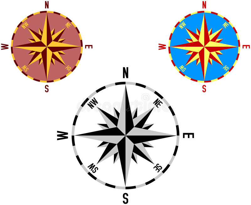 rose wind 2 vektor illustrationer