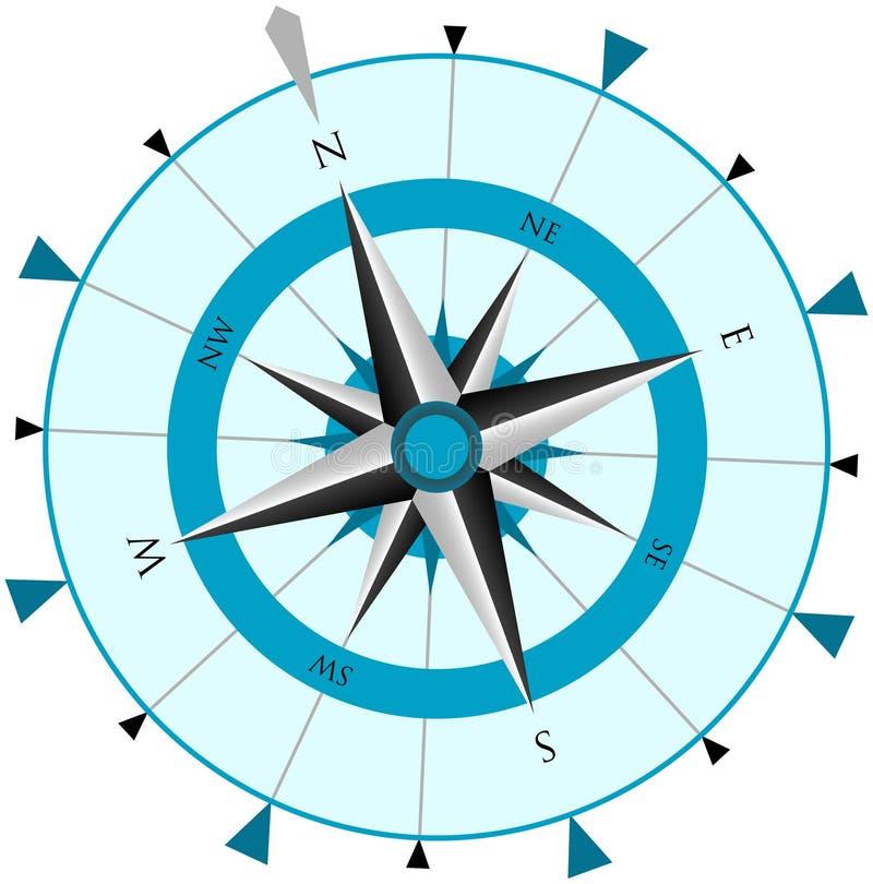 rose wind för kompass royaltyfri illustrationer