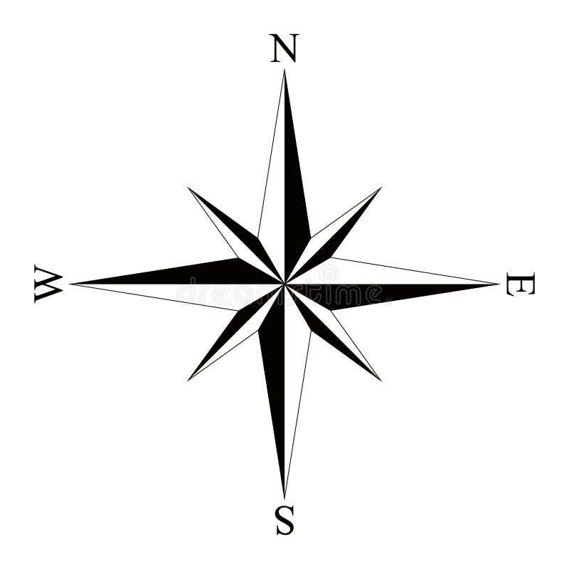 rose wind för kompass också vektor för coreldrawillustration stock illustrationer
