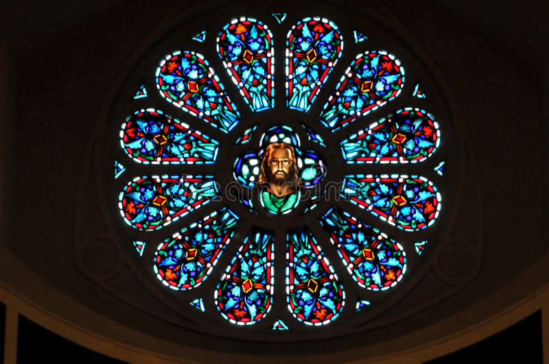 Download Rose window stock photo. Image of window, faith, round - 21093074