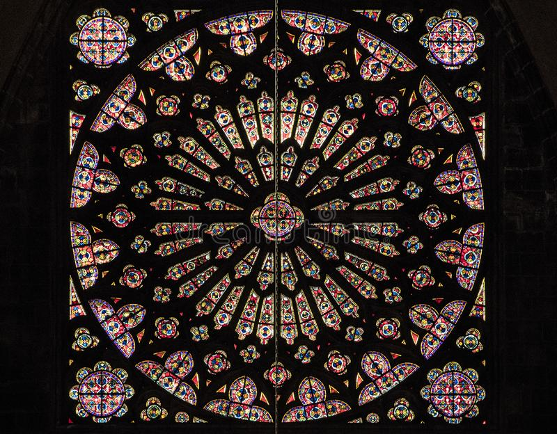 Rose Window Clermont-Ferrand royaltyfri bild