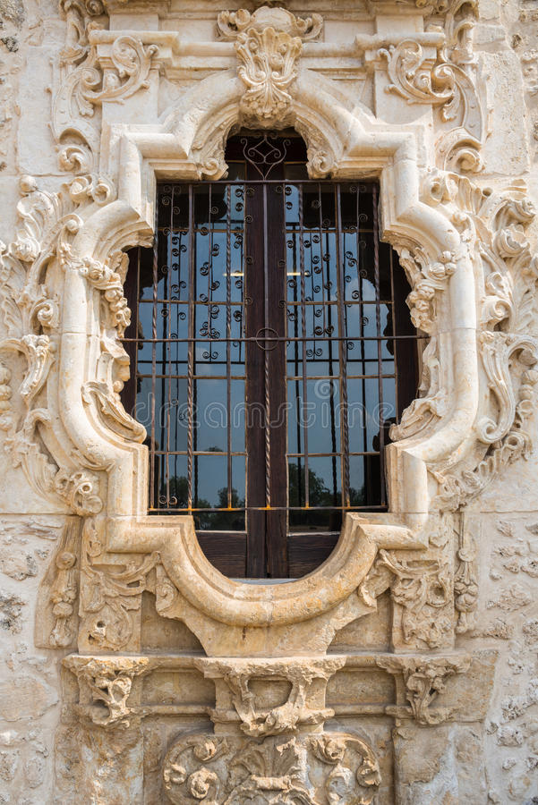 Rose Window Mission San Jose stockbild