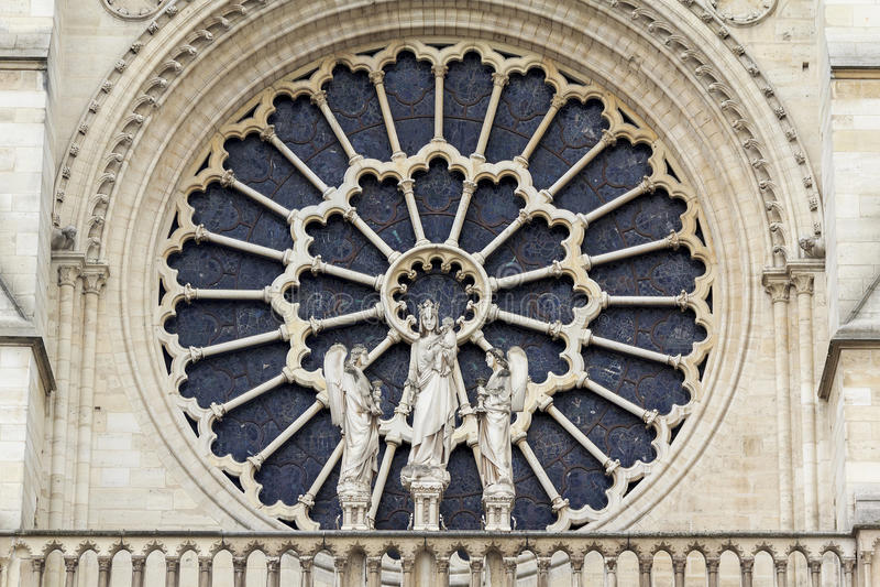 Rose Window, Notre-Dame de Paris royalty-vrije stock fotografie
