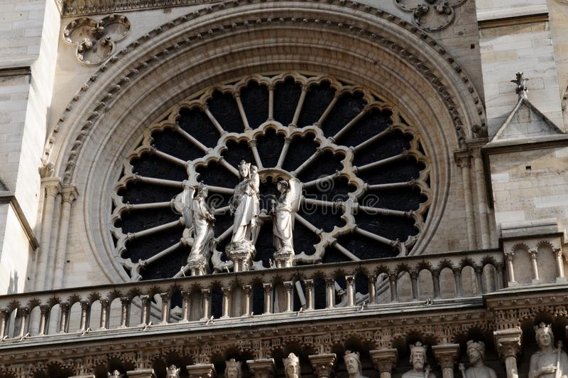 Rose Window Notre-Dame de Paris foto de archivo