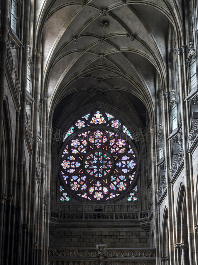 Rose window royalty free stock photography