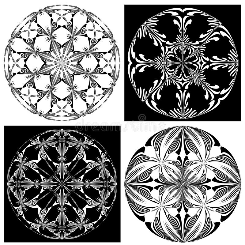 Download Rose Window Set Stock Vector Illustration Of Ancient