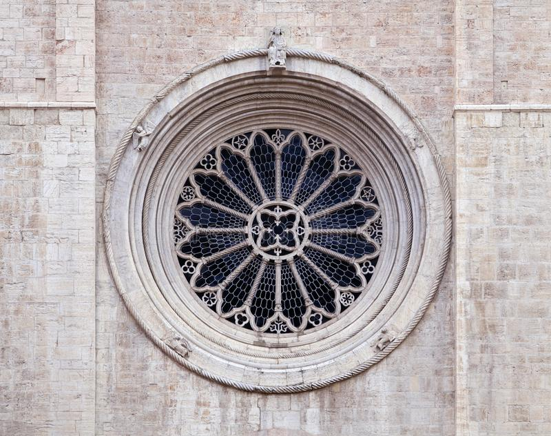 Rose window of Trento cathedral royalty free stock photography