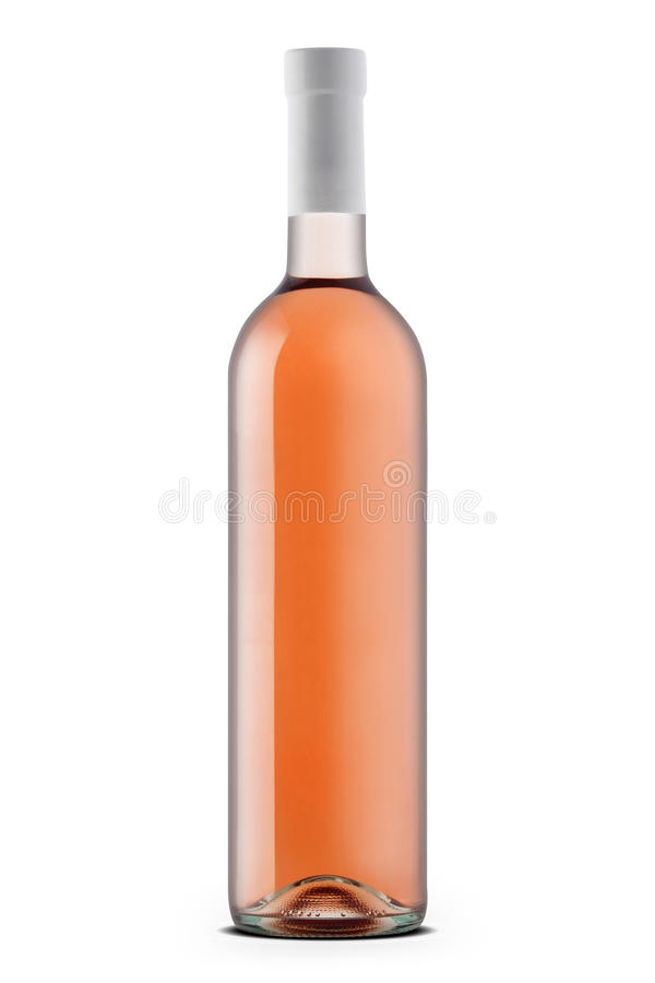 Rose wine bottle stock images