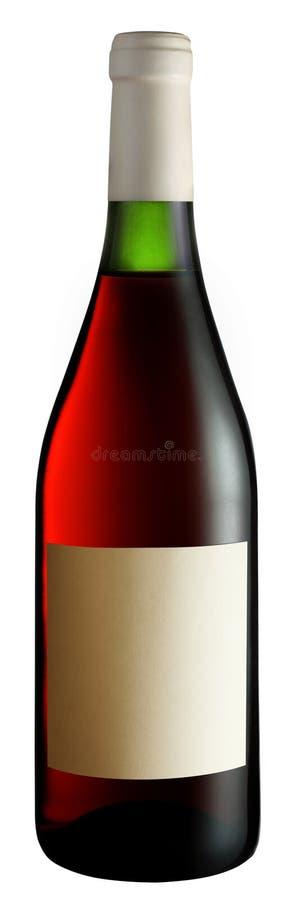 rose wine för flaska arkivbild