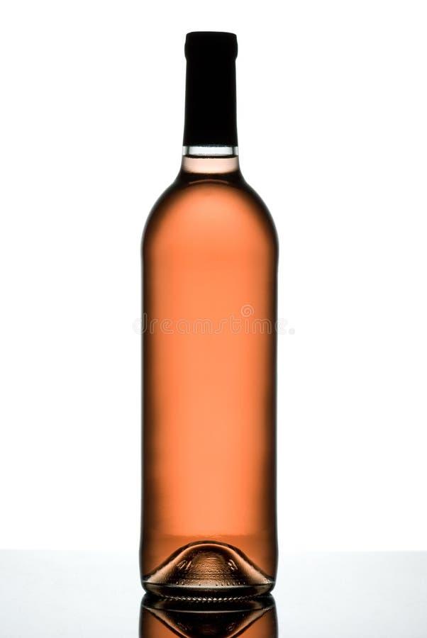 rose wine för flaska royaltyfri foto