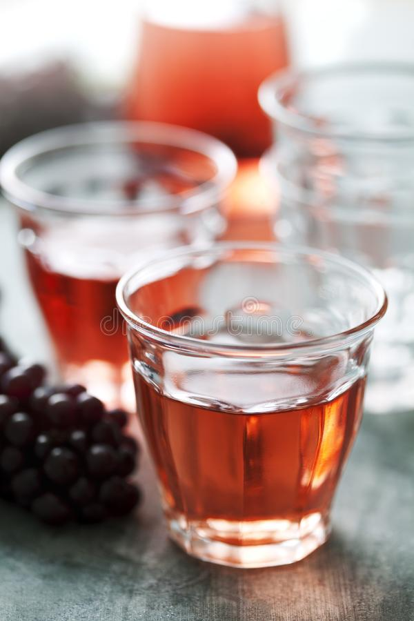 Rose wine stock images