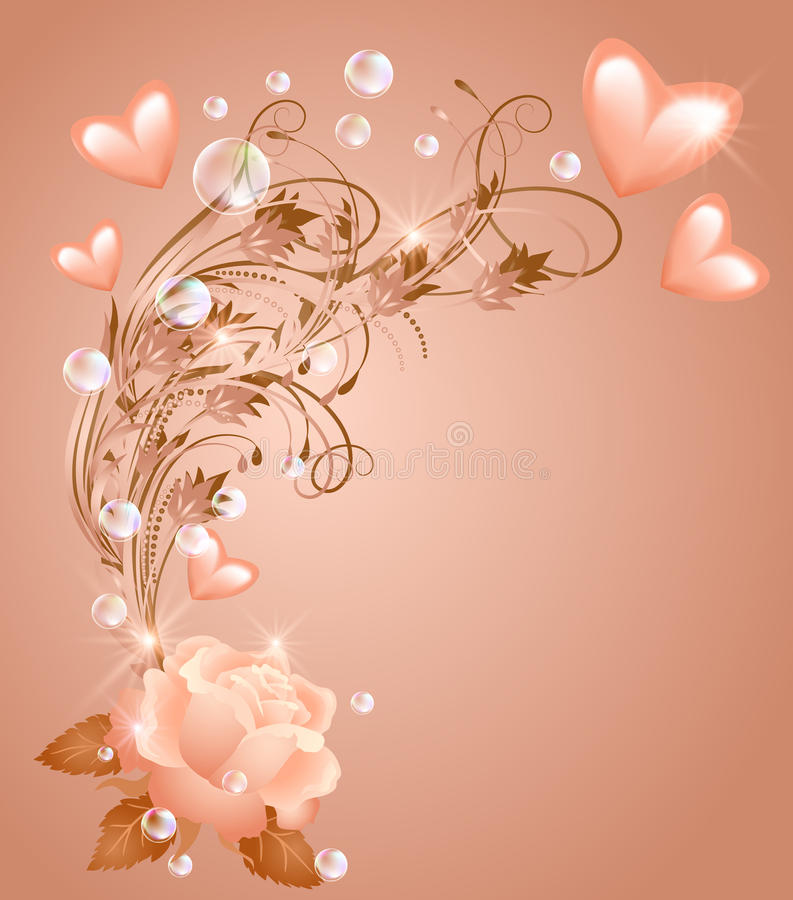Free Rose With Hearts Stock Photo - 28731460